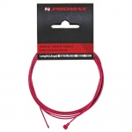 Promax brake cable satinless red with oval nipples