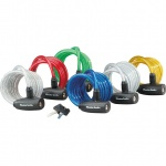 Master Lock Coil Family 8127 6 Pack: 2x blue, 2x red and 2x silver, can be sold separately 8x1.800mm zapięcie linka