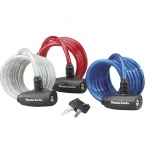 Master Lock Coil Family 8127 3 Pack: 1x blue, 1x red and 1x silver 8x1.800mm zapięcie linka