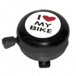 "AbT 54mm dzwonek with sticker ""i love my bike"" black"