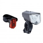 Buchel Set of lights front + rear Vail and Micro LED black 80 Lux